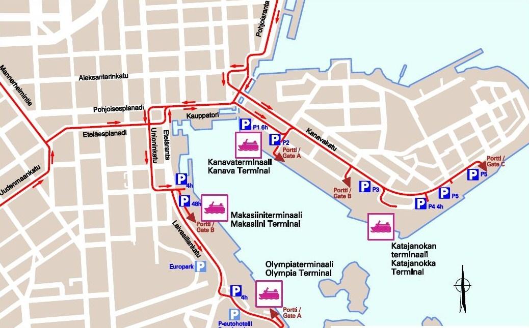 Карта Южного порта