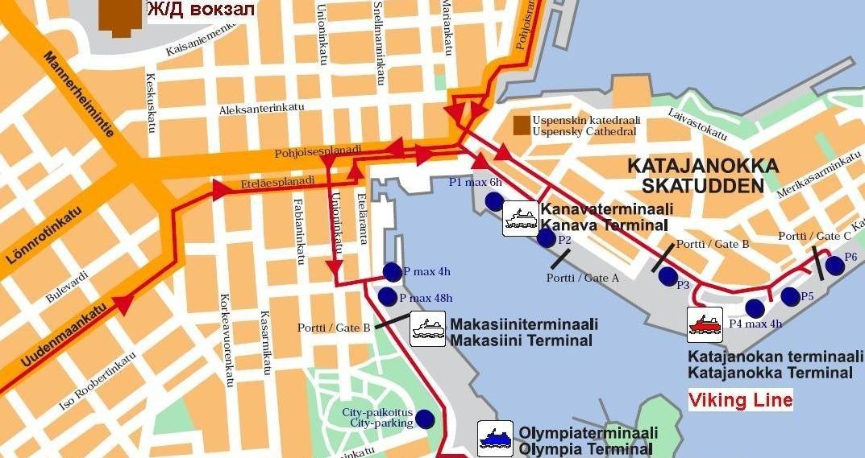 План проезда на терминал