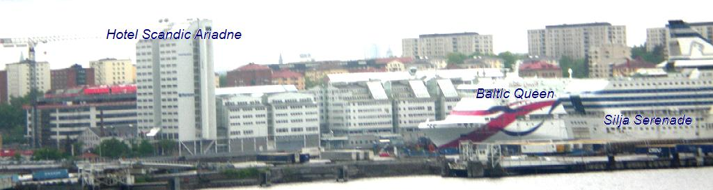 Hotel Scandic Ariadne. Паромы Baltic Queen и Silja Serenade в Стокг&#1#1086;льме. Порт VARTAN.                   naparome.ru