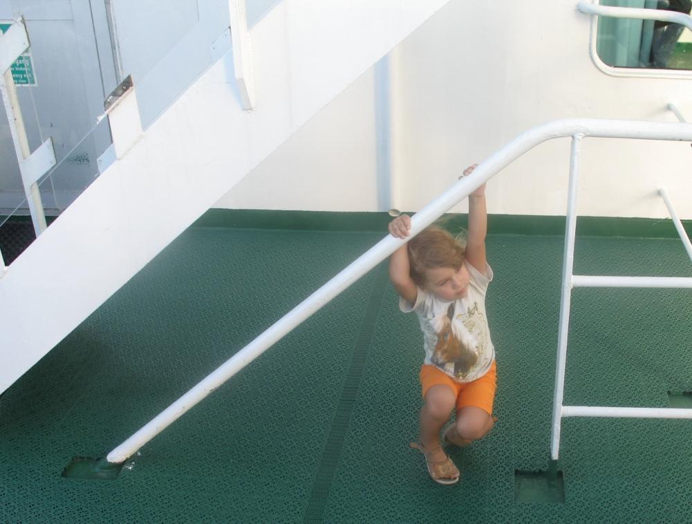На палубе парома Принцесса Мария