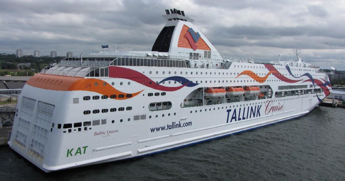 Паром Baltic Queen у терминала D в Таллинне