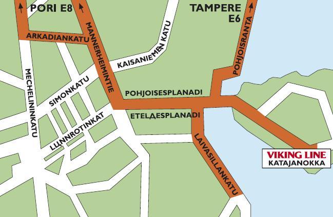 Viking Line: Порт KATAJANOKKA, Helsinki