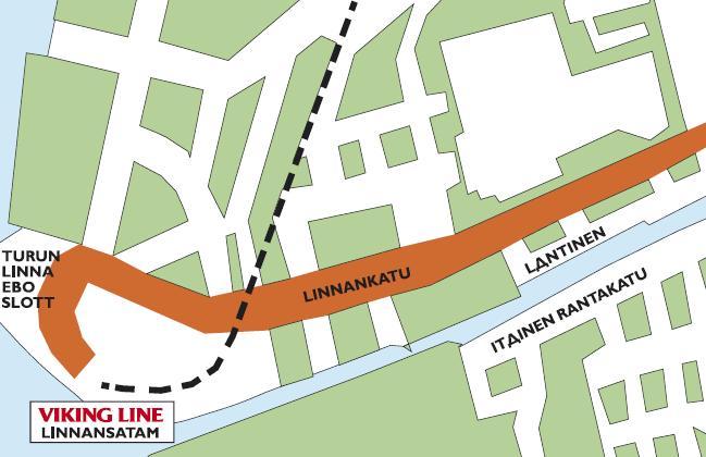 Viking Line: порт LINNANSATAM, Turku.