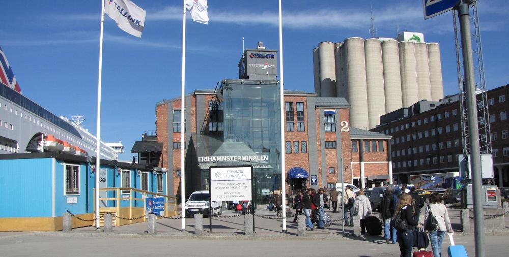 Frihamnen  Порт Фрихамн / Frihamnen. Из порта Фрихамн отправляются паромы Tallink и St.Peter Line