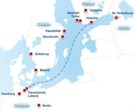 Паромнная компания Finnlines: Маршрут Travemunde/Lubeck-Helsinki на сайте www.NaParome.ru
