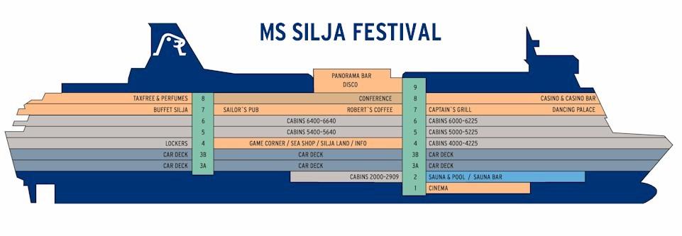 паром tallinksilja festival  схема в разрезе