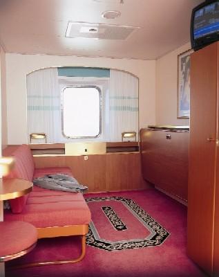 Каюта А-класса с окном Паром Таллинк Виктория. www.NaParome.ru  Tallink Victoria I